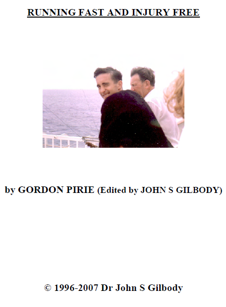 Running Fast and Injury Free e-book (PDF) by Gordon Pirie